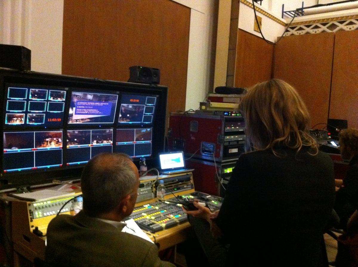 ALW @Pleyel - Régie avec le conseiller musical et le réalisateur
