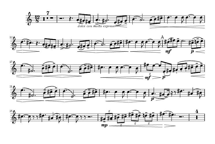 5e Symphonie de Tchaïkovski - Partition du solo du Cor