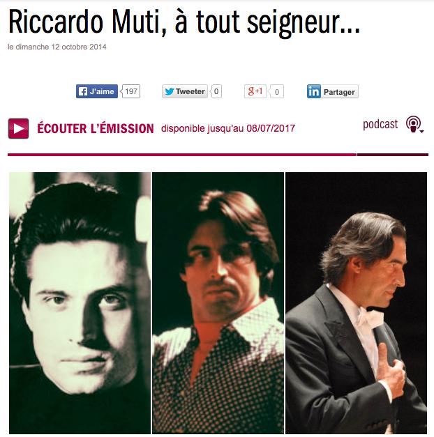 Riccardo Muti, à tout seigneur... - France Musique